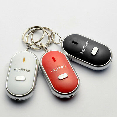 Whistling Key Finder Led Flashing Beeping Locator Key Chain With Sound Control
