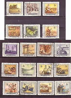 "CHINA PRC Collection of Stamps ""INDUSTRIAL"" Full Set used"