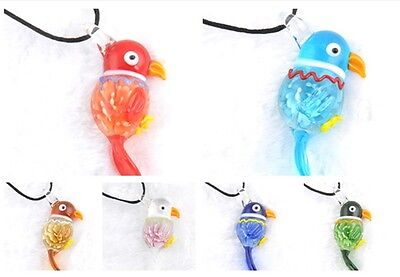 fashion 1pc lovely vivid bird Lampwork Glass bead pendant Necklace