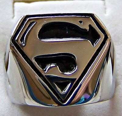 S _  For _  Superman  ~ S/steel ~  Size:10 ~Ring --- (Great_Christmas_Gift)