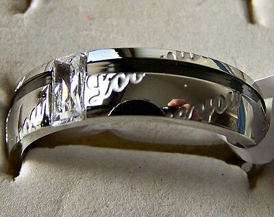 Love _ You   ~ S/steel  ~ Size:12  ~  Ring -- (Great_Christmas_Gift)