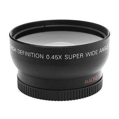 52MM 0.45x Fisheye Wide Angle Macro Lens for Nikon D3200 D3100 D5200 D5100 SI