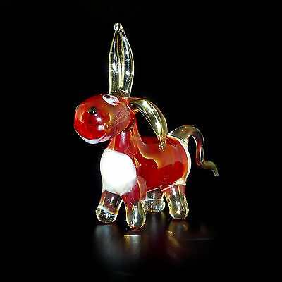 Donkey Blown Glass Figurine Collectible Highquality Handmade  Russian Federation