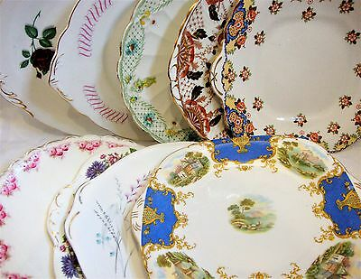 Mis-Match Pretty Tea Party Cake Plates Stands - Shabby Chic Vintage Wedding