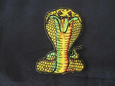 Cobra Snake Iron On/sew On Embroidered Cloth Patch (P84)