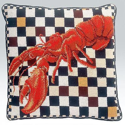 Ehrman Lobster Cushion Tapestry Needlepoint Kit By Kaffe Fassett,discountinued