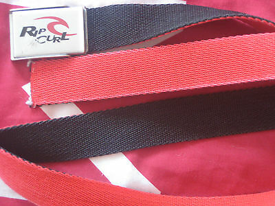 RIPCURL BELT BOYS LARGE YOUTH SMALL MEN'S WEBBED 2in1 REVERSIBLE RED BLACK BELT