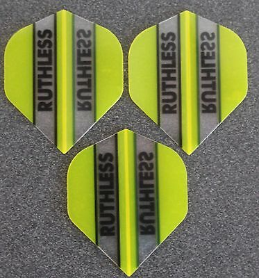 5 Packets of Brand New Ruthless Extra Strong Darts Flights - Yellow