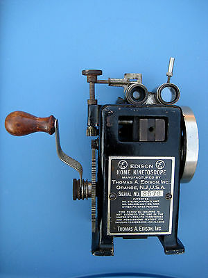 *Rare* 1912 EDISON HOME KINETOSCOPE PROJECTOR ASSEMBLY / PART! SEE IT OPERATING!
