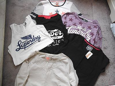 JOB LOT of SUPERDRY T shirts vest longsleeve womens official 6 pieces