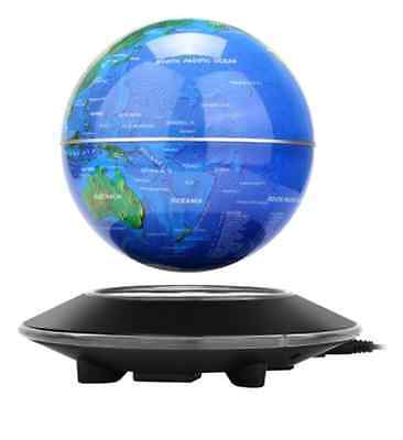 NEW Floating World Globe Map Magnetic Levitation With LED Light Home Room Decor