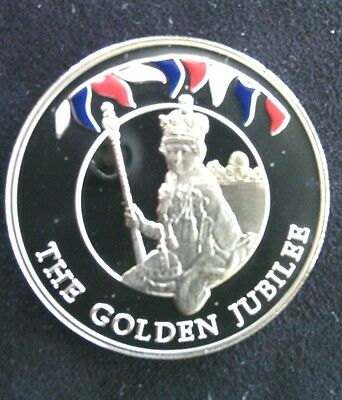 Royal Jubilee 2002 Falkland Islands 50 Pence Coin Queen Elizabeth ll Golden HRM