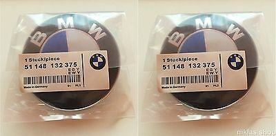 NEW OEM BMW 2x82mm Car Emblem Chrome Front Badge Logo 2 Pins For BMW Hood/Trun