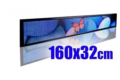LED SIGN BOARD 160x32cm programmable scrolling display full color / any size