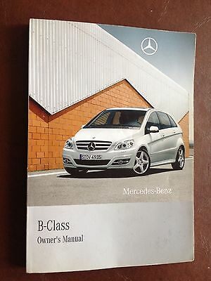 MERCEDES BENZ B CLASS OWNERS MANUAL HANDBOOK 2008 2011   244 Pages