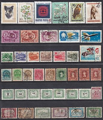 Collection Of 41 Hungary Hungarian Magyar Posta Used Commemorative Stamps