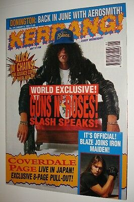 Kerrang! # 476 - Alice In Chains Iron Maiden Cannibal Corpse Kiss Melvins Gnr