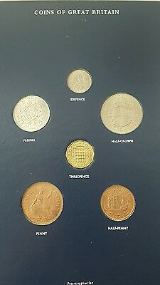Coins of Great Britain set of 6 coins