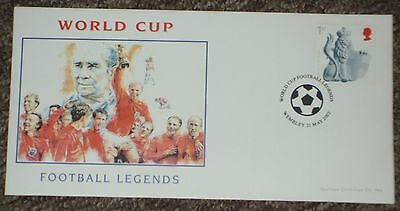 POSTAL COVER - World Cup Football Legends issued 2002