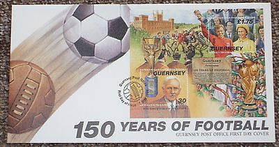 Guernsey  1st day cover - 150 years of football