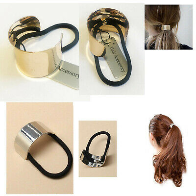 Ponytail Ring Hair Cuff Elastic Band Cover Rope Holder Women Tie Hairband Ties