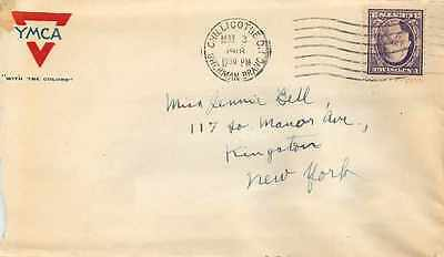 Lettre Cover US Army postal service 1918 YMCA