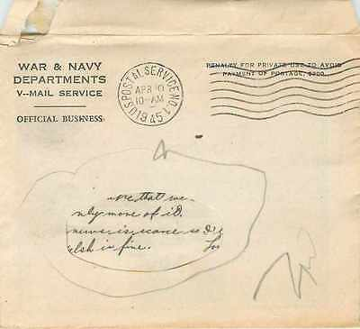 Lettre Cover US Army postal service 1945