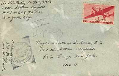 Lettre Cover US Army postal service 1943 US Censor