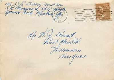 Lettre Cover US Army postal service 1944 Moultrie