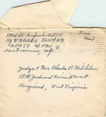 Lettre Cover US Army postal service 1951