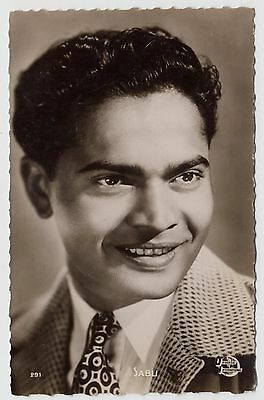 POSTCARD - Sabu, movie film cinema actor, real photo RP #291