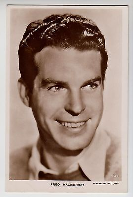 POSTCARD - Fred Macmurray, movie film cinema actor, RP real photo #168