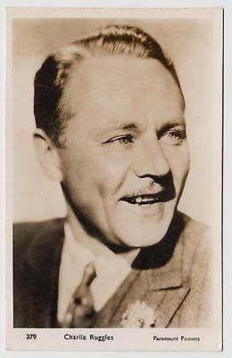 POSTCARD - Charles Ruggles, movie film cinema actor, real photo RP #379