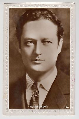 POSTCARD - Edmund Lowe, movie film cinema actor, RP real photo #94