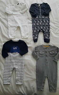 baby boys romper suits 9-12 months x4 all in ones m&s Next Miniclub