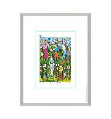 "Original James Rizzi 3D Bild ""Hole in one "" / Golfmotiv NEUmit  Zertifikat"