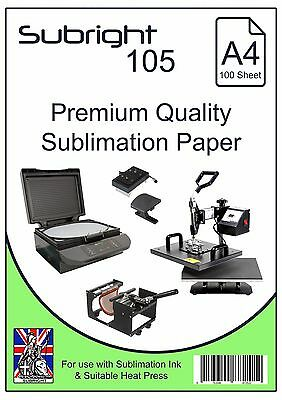 Subright 105 A4 Premium Quality Sublimation Paper