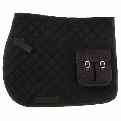 Tough 1 Australian Outrider Collection With Pocket Horse Saddle Pad Black