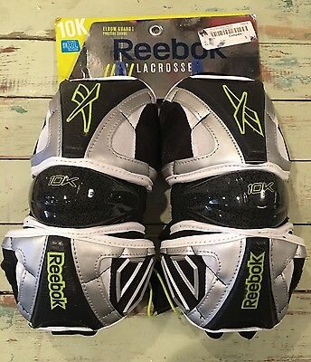 New Reebok 10k Elbow Guards (black/silver/lime, X-large)