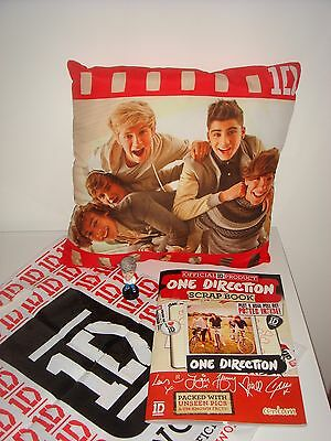 One Direction Cushion, Niall Figure and One Direction Scrap Book