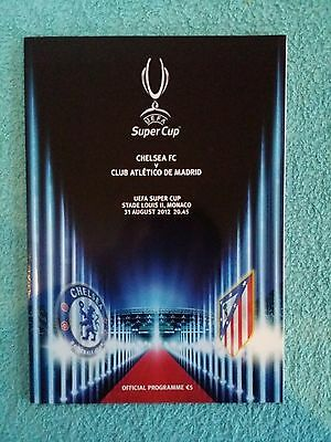 2012 - UEFA SUPER CUP FINAL PROGRAMME - CHELSEA v ATHLETICO MADRID