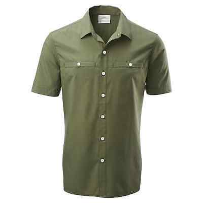 Kathmandu Valetta Mens Quick Dry Button Casual Short Sleeve Travel Shirt v4 Grey