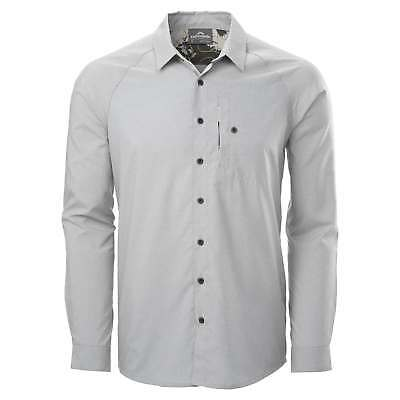 Kathmandu Sario Mens Long Sleeve Quick Dry Button Front Travel Shirt v2 Grey