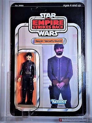 Vintage Star Wars Kenner Esb Bespin Security Guard Afa 85 Clear Bubble