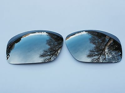 Engraved Polarized Chrome Silver Mirrored Replacement Oakley Scalpel Lenses