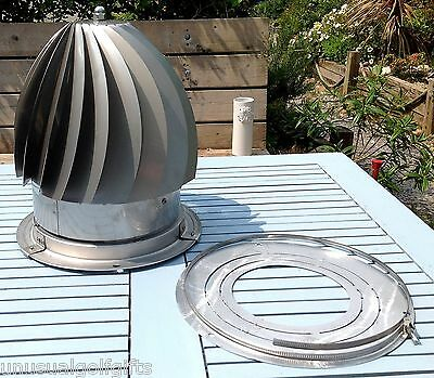 UNIVERSAL CHIMNEY ROTO SPINNING COWL TO FIT 150mm -300mm. MIDTEC MAKE NEW BOXED