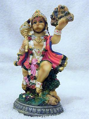 INDIAN HINDU FLYING GOD HANUMAN STATUE/ MURTI - 13 cm TALL