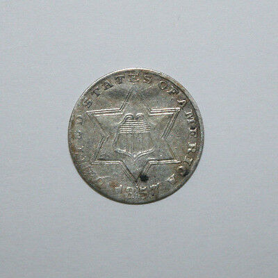 1857 Three Cent Silver   J23