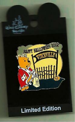 Wdw Le Disney Trading Pin Prince John Winnie The Pooh Happy Halloween Witchville
