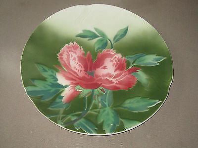 Rare Et Sublime Plat Ancien En Faience De Gien Decor Floral